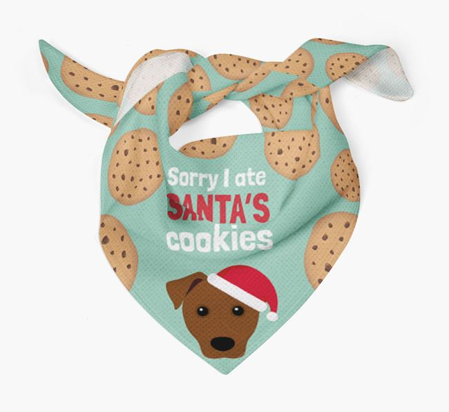 'I ate Santa's Cookies' Christmas Bandana with Patterdale Terrier Icon