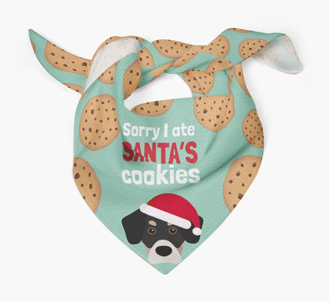 'I ate Santa's Cookies' Christmas Bandana with Siberian Cocker Icon