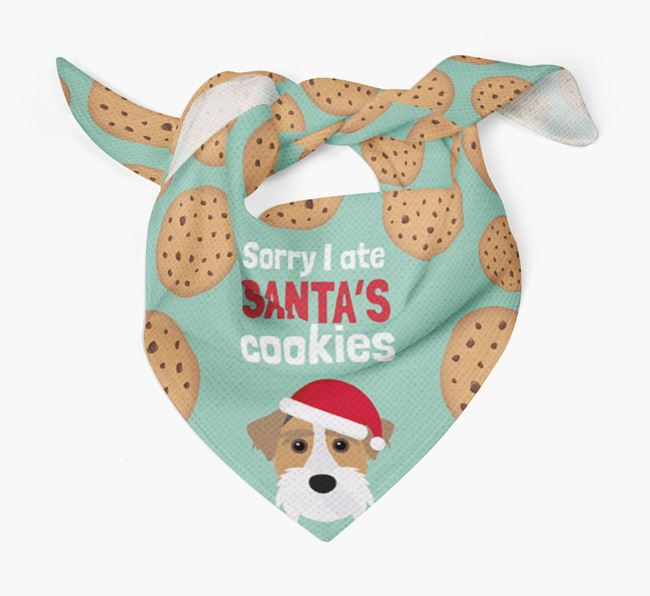 'I ate Santa's Cookies' Christmas Bandana with Sporting Lucas Terrier Icon