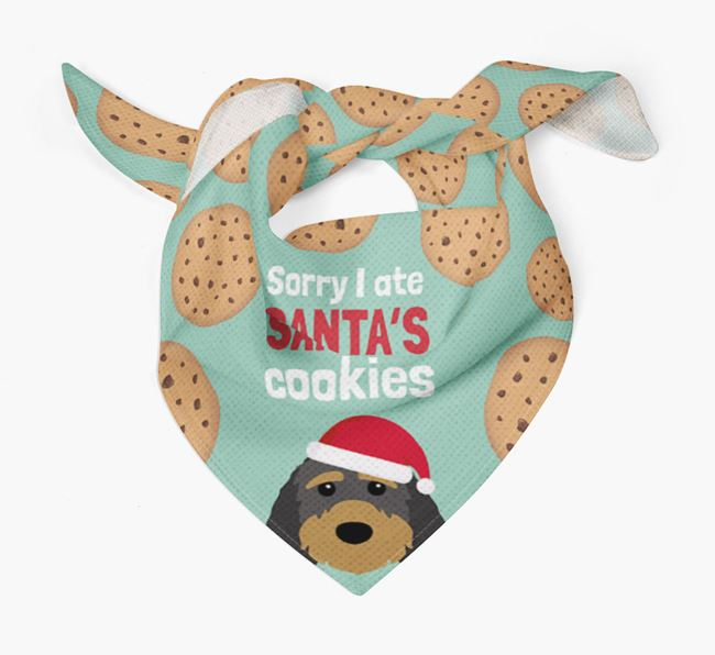 'I ate Santa's Cookies' Christmas Bandana with Sproodle Icon