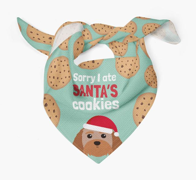 'I ate Santa's Cookies' Christmas Bandana with Terri-Poo Icon