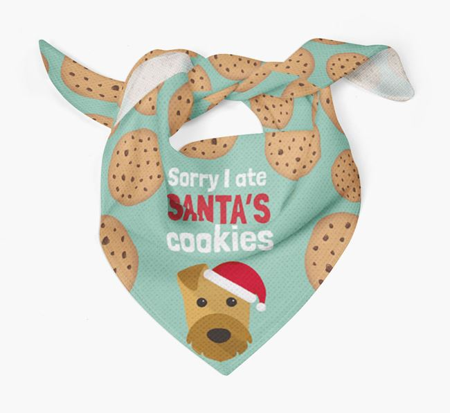 'I ate Santa's Cookies' Christmas Bandana with Welsh Terrier Icon