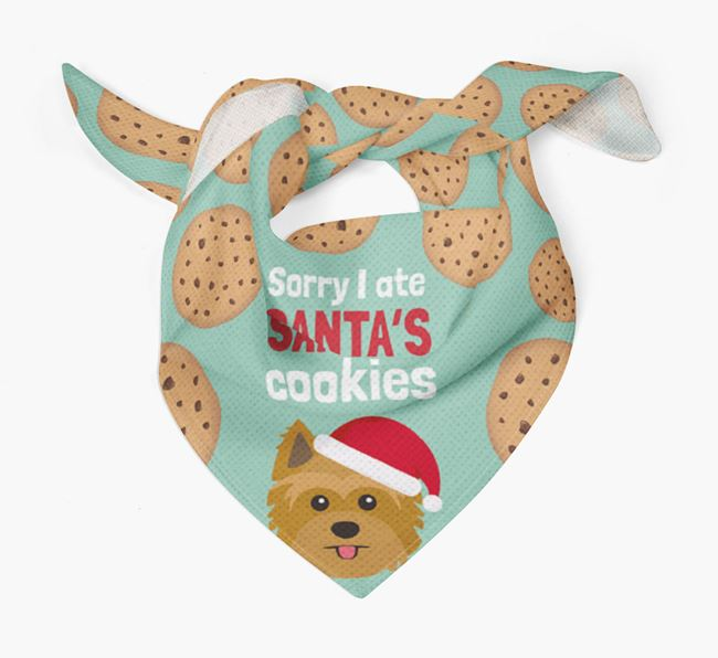 'I ate Santa's Cookies' Christmas Bandana with Yorkshire Terrier Icon