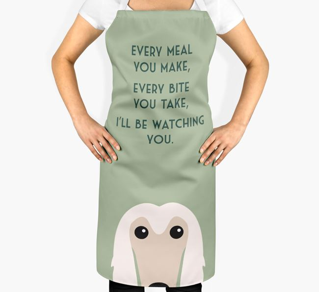 Afghan Hound Apron - I'll be watching you