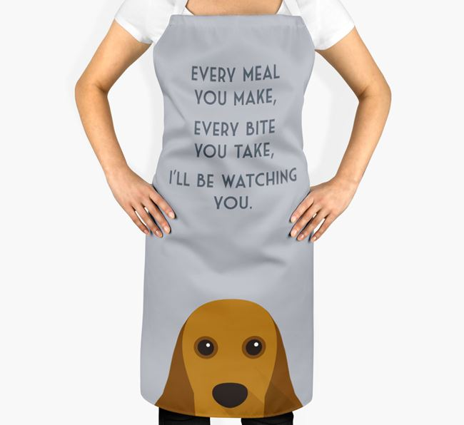 American Cocker Spaniel Apron - I'll be watching you