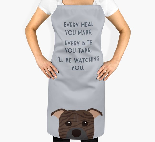 American Pit Bull Terrier Apron - I'll be watching you