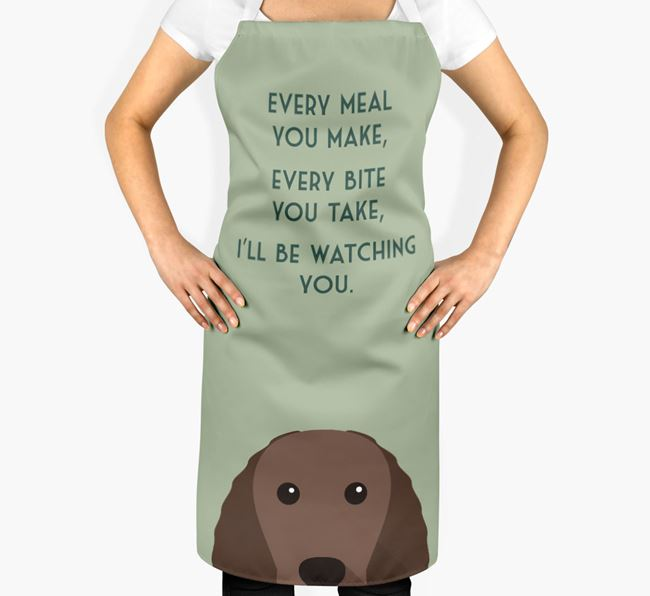 American Water Spaniel Apron - I'll be watching you