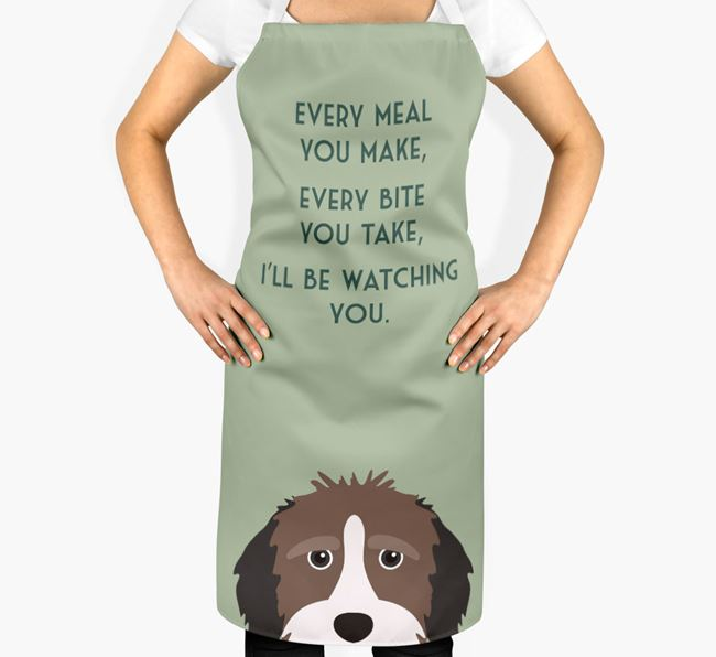 Aussiedoodle Apron - I'll be watching you