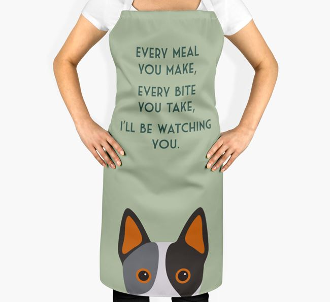 Australian Cattle Dog Apron - I'll be watching you