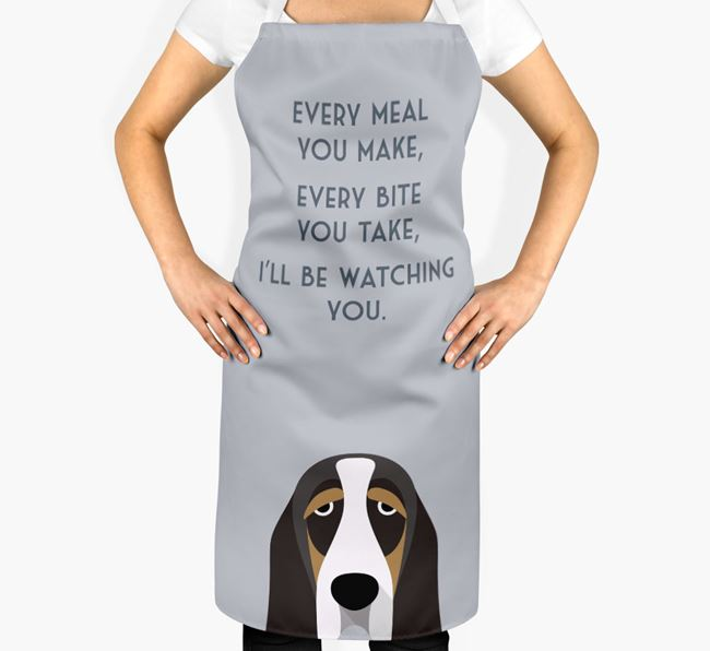 Basset Hound Apron - I'll be watching you