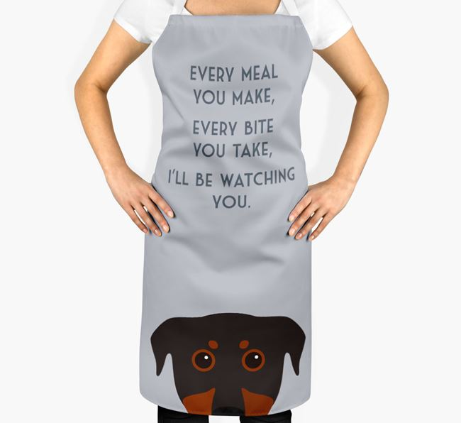 Beauceron Apron - I'll be watching you