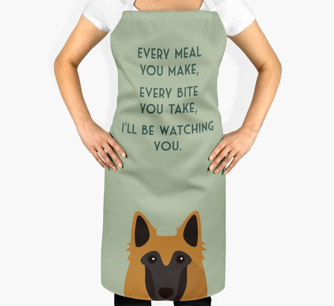 Belgian Tervuren Apron - I'll be watching you