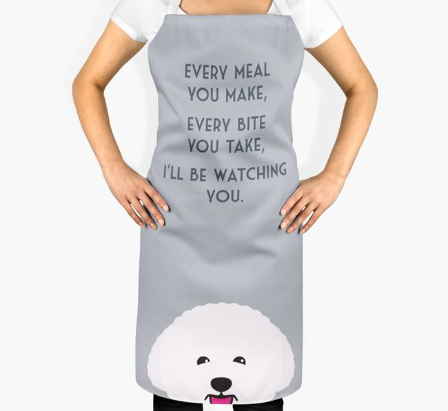 Bichon Frise Apron - I'll be watching you