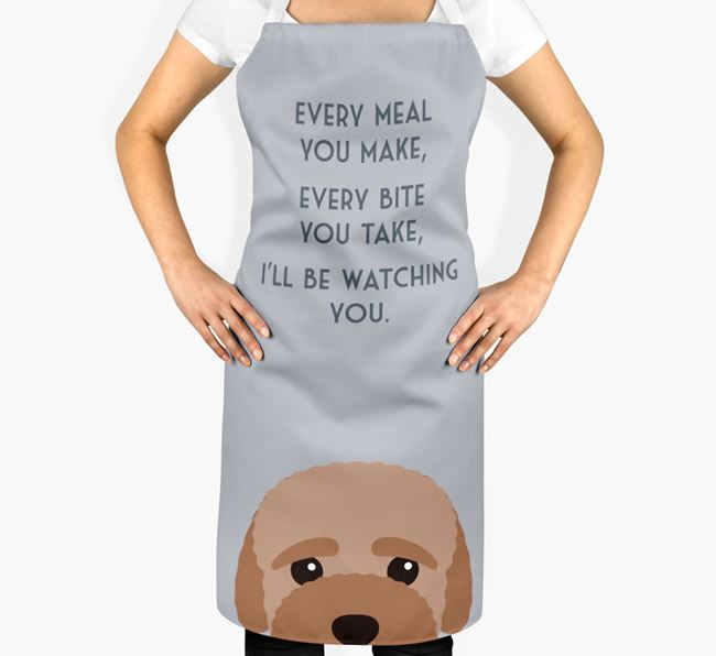 Bich-poo Apron - I'll be watching you
