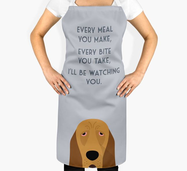 Bloodhound Apron - I'll be watching you
