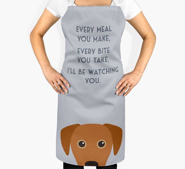 Blue Lacy Apron - I'll be watching you