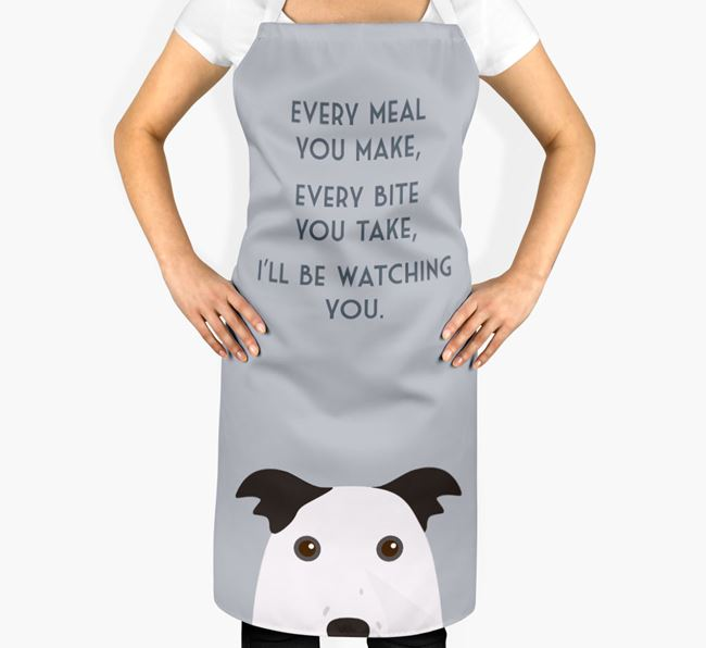 Border Collie Apron - I'll be watching you