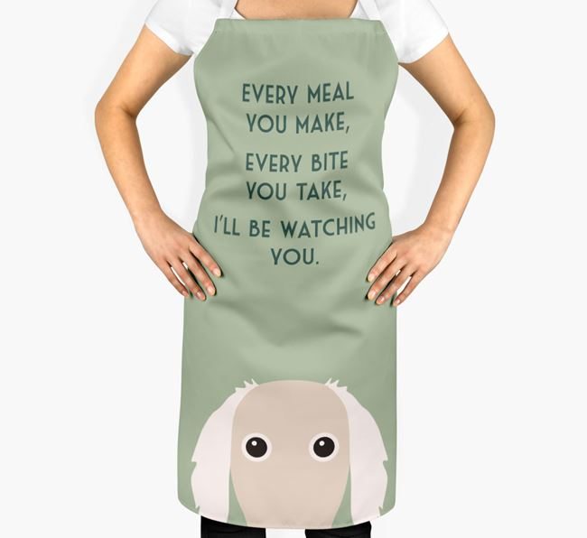 Borzoi Apron - I'll be watching you