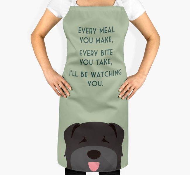 Bouvier Des Flandres Apron - I'll be watching you