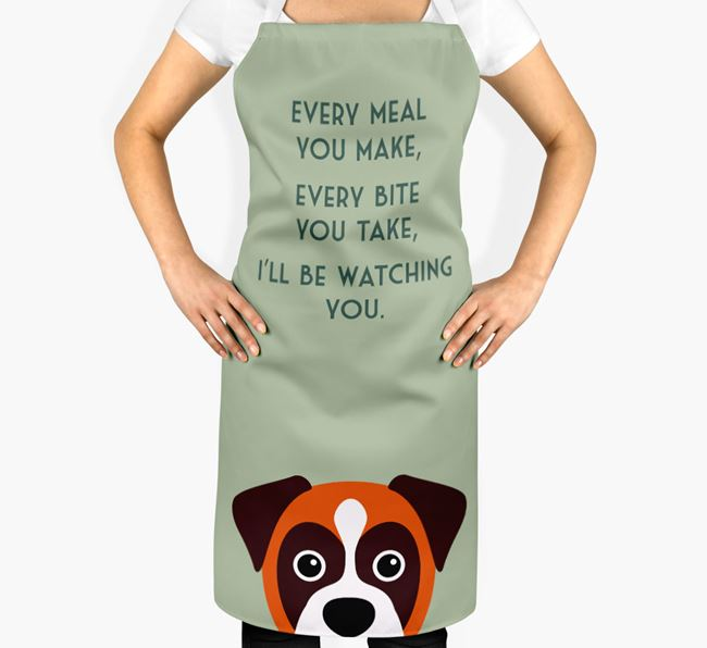 Boxer Apron - I'll be watching you