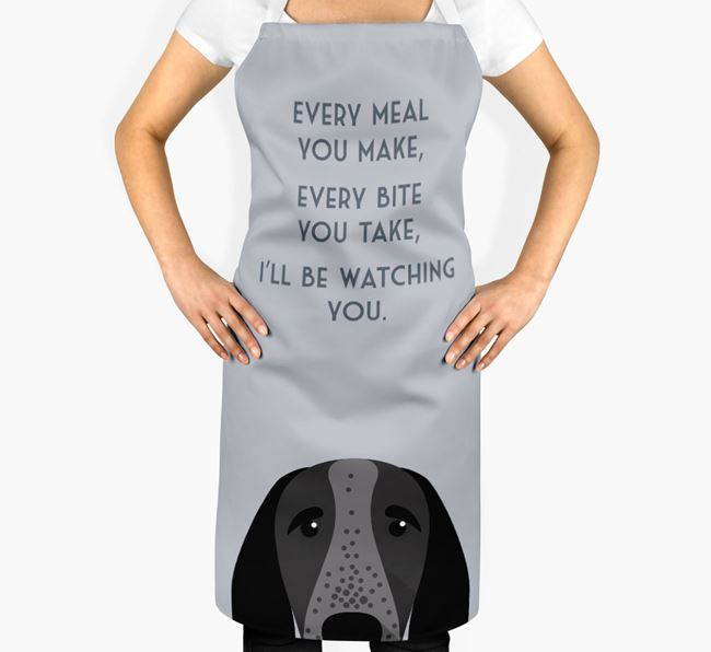 Braque D'Auvergne Apron - I'll be watching you