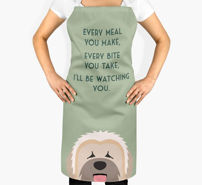 Briard Apron - I'll be watching you