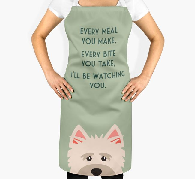 Cairn Terrier Apron - I'll be watching you