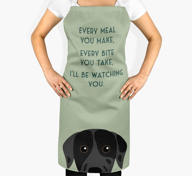 Catahoula Leopard Dog Apron - I'll be watching you