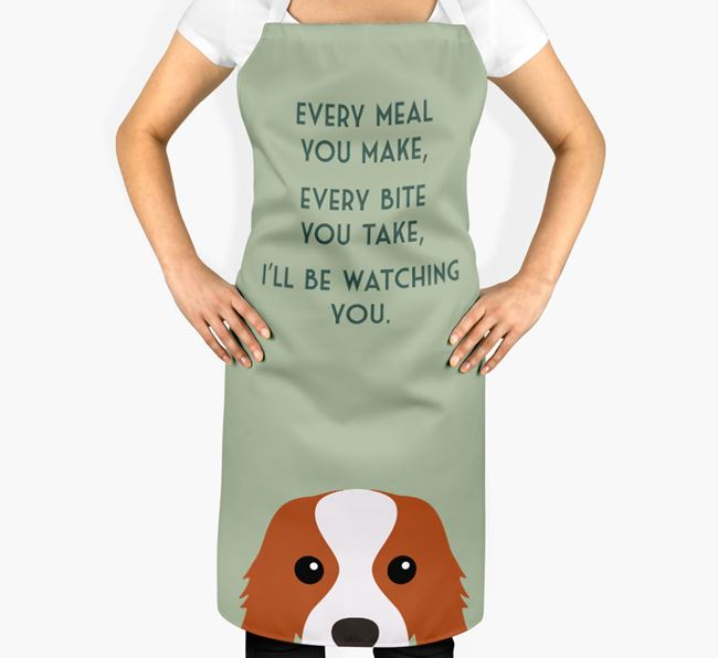 Cavalier King Charles Spaniel Apron - I'll be watching you