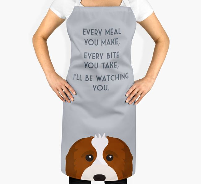 Cavapoo Apron - I'll be watching you