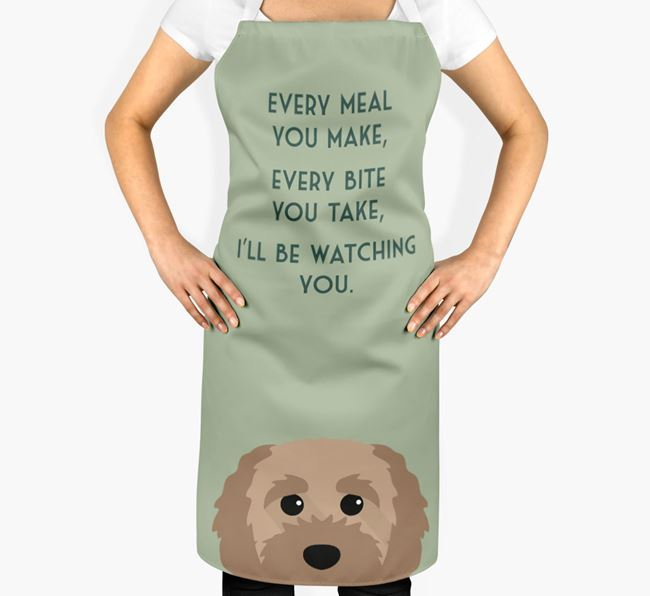 Cavapoochon Apron - I'll be watching you