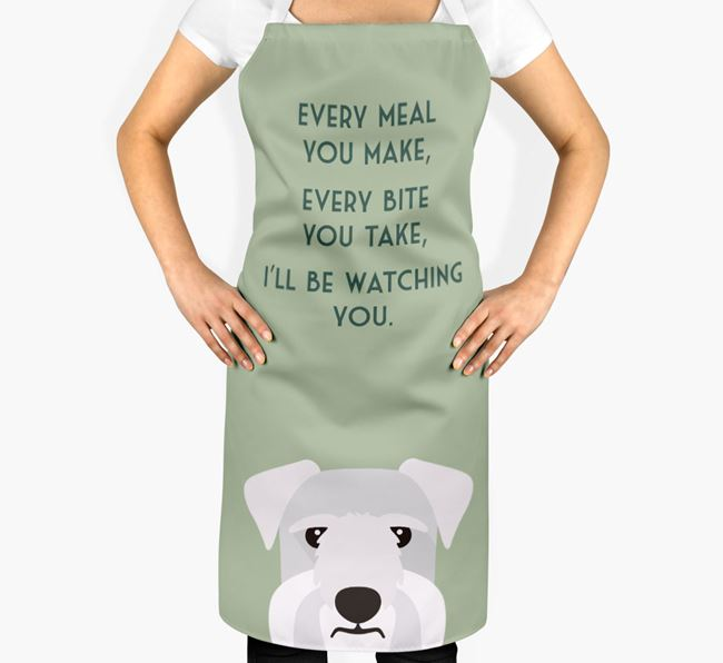 Cesky Terrier Apron - I'll be watching you