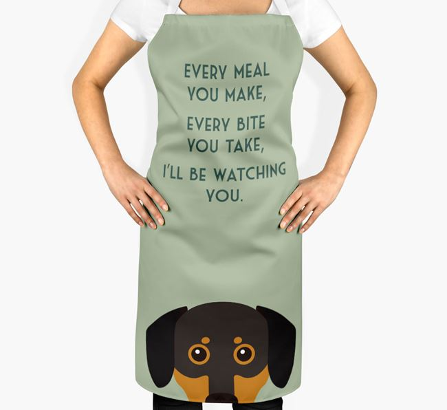Chiweenie Apron - I'll be watching you