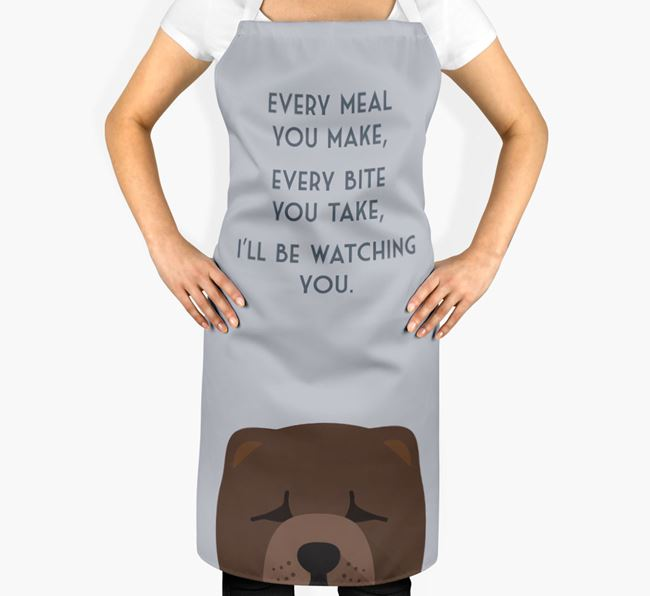 Chow Chow Apron - I'll be watching you