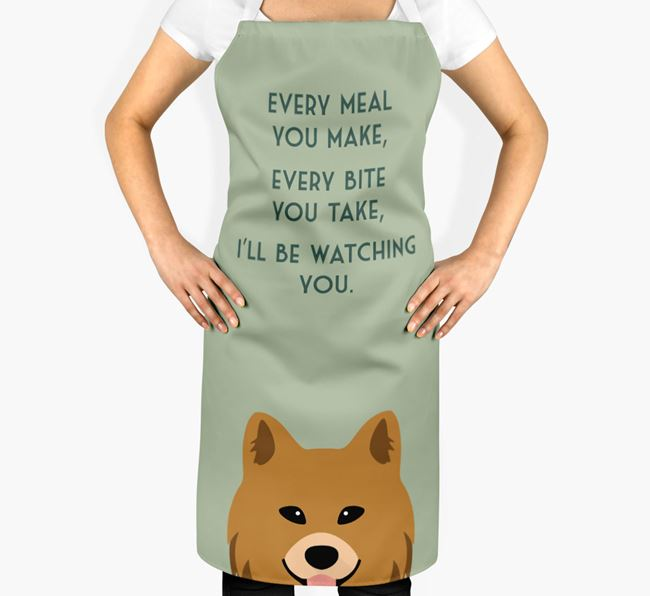 Chow Shepherd Apron - I'll be watching you