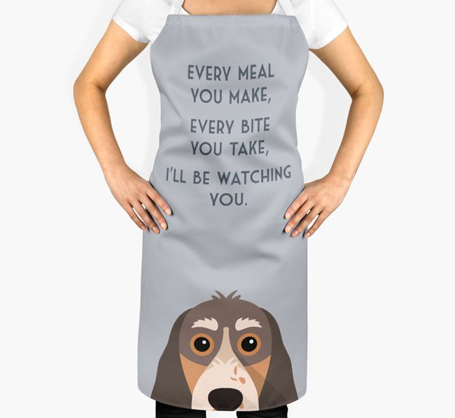 Cocker Spaniel Apron - I'll be watching you