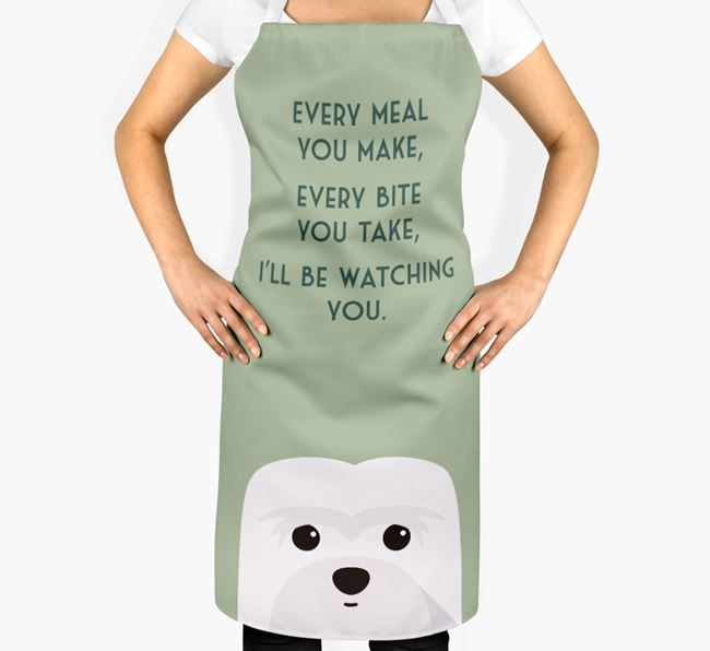 Coton De Tulear Apron - I'll be watching you
