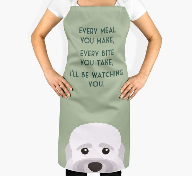 Dandie Dinmont Terrier Apron - I'll be watching you