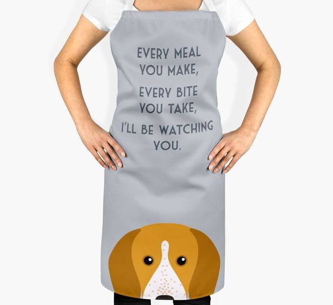 English Coonhound Apron - I'll be watching you