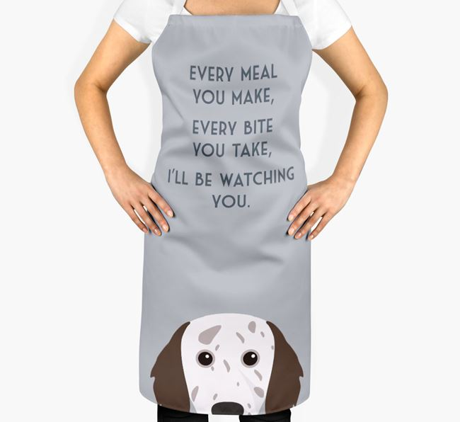 English Setter Apron - I'll be watching you