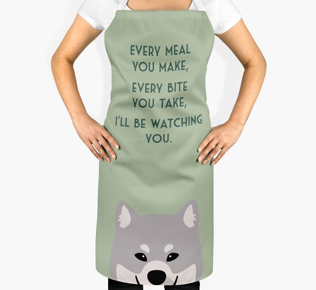 Eurasier Apron - I'll be watching you