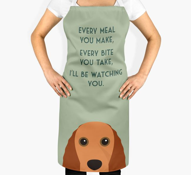 Field Spaniel Apron - I'll be watching you