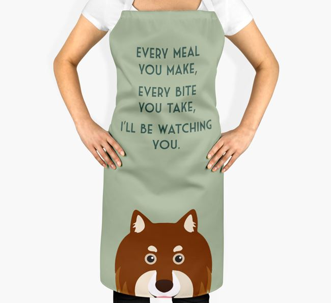 Finnish Lapphund Apron - I'll be watching you