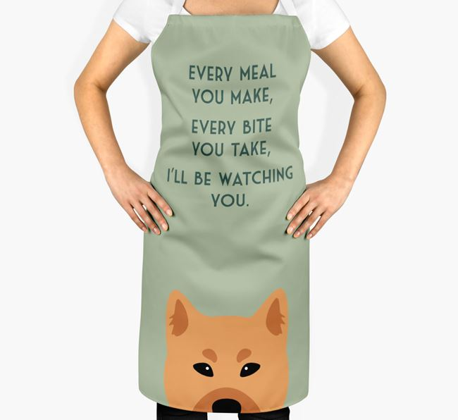 Finnish Spitz Apron - I'll be watching you