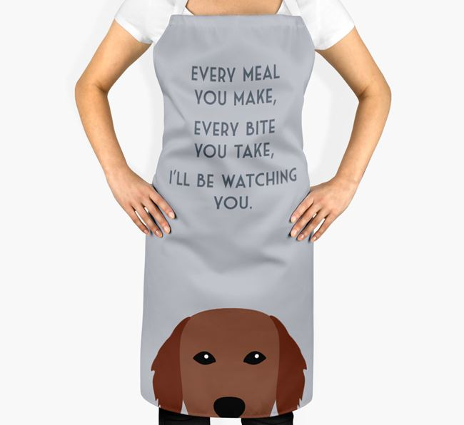 Flat-Coated Retriever Apron - I'll be watching you