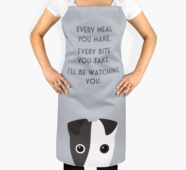 Fox Terrier Apron - I'll be watching you