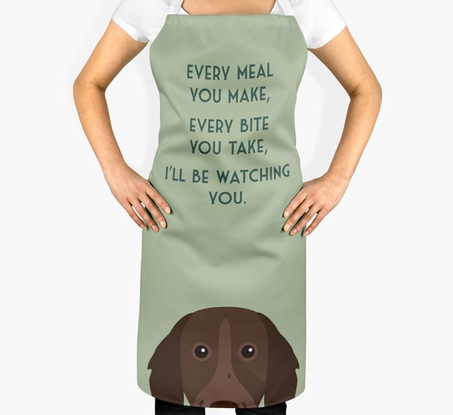 German Longhaired Pointer Apron - I'll be watching you