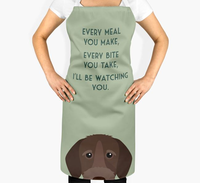 German Wirehaired Pointer Apron - I'll be watching you