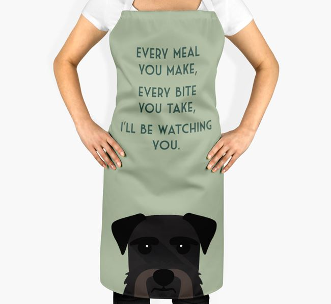 Giant Schnauzer Apron - I'll be watching you