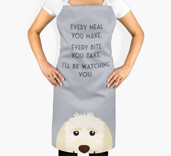 Goldendoodle Apron - I'll be watching you